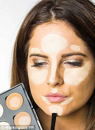 Highlight areas of your face with light cream colour from your contour palette